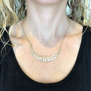 Stella and Dot gold adjustable necklace
